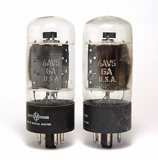 2x Verstärker Röhre Hewlett Packard 6AV5 GA, Beam Power Amplifier Tubes