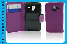 Extra Fine Protective Leather Wallet Flip Case Cover Samsung Galaxy Ace 2 i8160