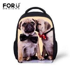 Pugs Kids Boys Girls Animal Dog Rucksack Children School Bag Backpack