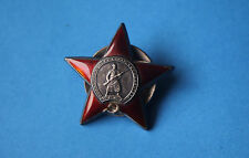 RUSSIAN SOVIET ORDER OF THE RED STAR WWII No 2521055 Red Army medal genuine
