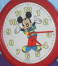 VINTAGE 1980s DISNEY MICKEY MOUSE WALL CLOCK BY AVRONEL GERMANY