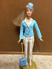I Can Be Flight Attendant Pilot Travel Fashion Suitcase Boot Dressed Barbie Doll