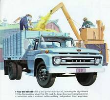 Old Print. Blue  1961 Ford F-600 Stake Truck Ad
