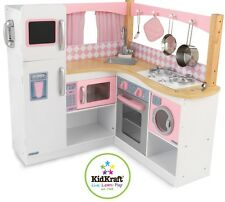 KidKraft Grand Gourmet Pink Kitchen Pretend Play Large Children's Kids Toy New