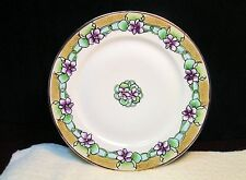 Vtg Hand Painted Art Nouveau Stylized Purple Flower Plate Nippon Japan Moriage
