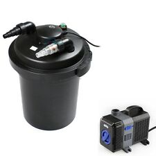 3500 Gal Pressure Pond Filter w/ 18W UV Sterilizer Koi Fish+ 2100 GPH Water Pump