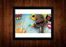 Little BIG PLANET PS3 incorniciato stampa in A4 idee regalo retrò vintage game ARTE