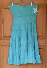 Debut Ladies Size S Green Knee Length Strapless Dress