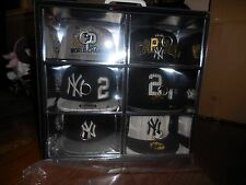 DEREK JETER NEW ERA LIMITED EDITION 6 HAT PACK BOX RARE 2/180 JERSEY NUMBER!!!!