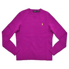 Polo Ralph Lauren Wool Cashmere Sweater Jumper Crew-neck Magenta Purple S