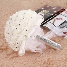 Artifical Flowers Foam Roses Girl Bridesmaid Bride Bouquet Wedding Party Decor