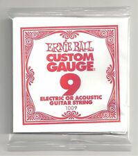 6 Pack Ernie Ball Custom Gauge 9 s Guitar Single Strings Electric / Acoustic