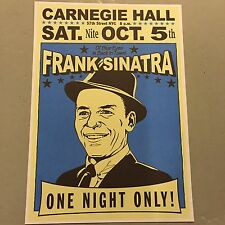 FRANK SINATRA - CONCERT POSTER NEW YORK CITY SATURDAY 5th OCTOBER (A3 SIZE)