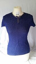 Looks New Ladies jb NuWeave Knitwear Blue Jumper Pullover Sz S 10 12