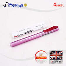 PENTEL ZE11 refillable retractable Clic Eraser Holder ZER-2 Eraser Refill Purple