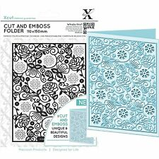 DOCRAFTS XCUT A6 FLORAL PATTERN CUT & EMBOSS FOLDER GREAT FOR BIRTHDAYS