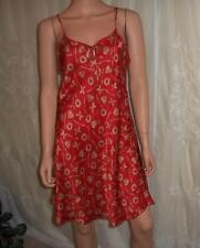 Silk Chemise Hugs and Kisses Intimates Size Large Red with Gold Valentine's Day