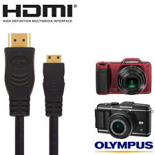 Olympus E-P3, SZ-15, VH-520, E-5 Digital Camera HDMI Mini TV Monitor 2.5m Cable