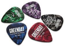 Greenday 5 X Double Sided Guitar Picks Ltd 300 (White on Pearl)