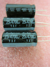 25V 4700uF 105°C electrolytic radial Capacitor **2 per sale** Rubycon