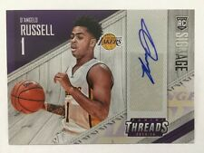 D'Angelo Russell Signage Rookie Card Auto 2015-16 Panini Threads Basketball