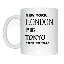 New York, London, Paris, Tokyo, CZECH REPUBLIC Tasse Kaffeetasse