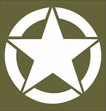 Star US Military Car Jeep Camper Window Bumper Sooter Laptop Sticker