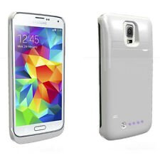 Q3800mAh QP3200i Power Bank Charger Cover Case for Galaxy S5 i9600 WHT Kickstand