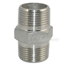 """Hex Nipple 3/4"""" Male x 3/4"""" Male 304 Stainless Steel threaded Pipe Fitting NPT"""