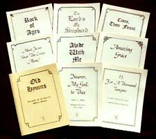OLD HYMNS FOR HARP AND VOICE, Sheet Music,  8-Piece Set