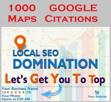 1000 Google Map Citations with Backlinks for Local SEO .Get Ranked in Top Google
