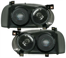 SMOKED TWIN / DOUBLE HEADLIGHTS HEADLAMPS FOR VW GOLF MK3 MK 3 NICE GIFT TWD44