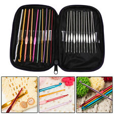 22pcs Multi-colour Aluminum Crochet Hooks Knitting Needles Weave Craft Yarn Tool