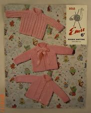 Baby Jackets - Emu Wools - 8068 - 3 Knit Patterns