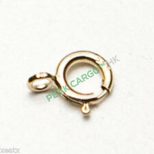 ltalia 14K GOLD Round Spring Ring Clasp Buckle Hook Claw Jewelry Necklace Chain