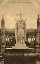 Cawnpore Kanpur Indien India AK ~1910 Memorial Well Religion Engel Angel Denkmal