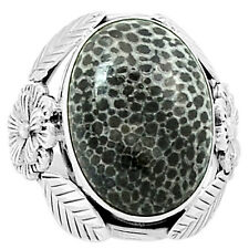 Stingray Coral 925 Sterling Silver Ring Jewelry s.9 6522R