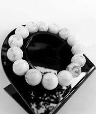 Bracelet Howlite en Pierre Minéral Naturelle Lithothérapie Bijoux Pour Femme