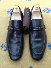 Gucci Mens Shoes Black Leather Loafers UK 7 US 8 EU 41 Made in Italy