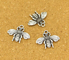 20pcs Bee Charms Antique Silver Tone Bumble Bee Buzz Insect Charm 20*23mm Nature