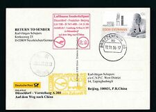 59290) LH A 380 FF/SF Düsseldorf - Beijing China 14.11.2006, Karte