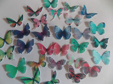 30 **PRECUT** Mixed Small Edible Butterflies cake/cupcake/cake pop toppers