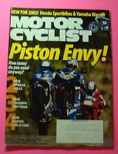 MOTOR CYCLIST MAGAZINE SEPT/2001...PISTON ENVY: HOW MANY DO YOU NEED ANYWAY..