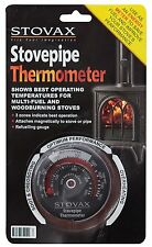 Stovax Flue Pipe Thermometer for Woodburner & Multi-Fuel Stoves Fires New 3046