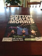 CONCERT POSTER SIGNED JIM KEAYS THE MASTERS APPRENTICES DARRYL  COTTON  MORRIS