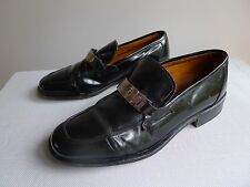 vintage retro 90s authentic 7 mens loafer Dolce & Gabbana D & G black shoes
