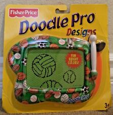 FISHER PRICE DOODLE PRO DESIGN MAGNETIC DRAWING SCREEN PORTABLE - SOCCER