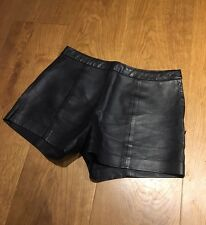 & OTHER STORIES Leather Black Shorts