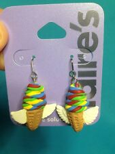 One Pair Of Claire's Sensitive Solutions Dangling Flying Ice Cream Cones Wow