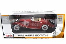 MAISTO 1936 MERCEDES BENZ 500K RED  1/18 DIECAST CAR  36862RD